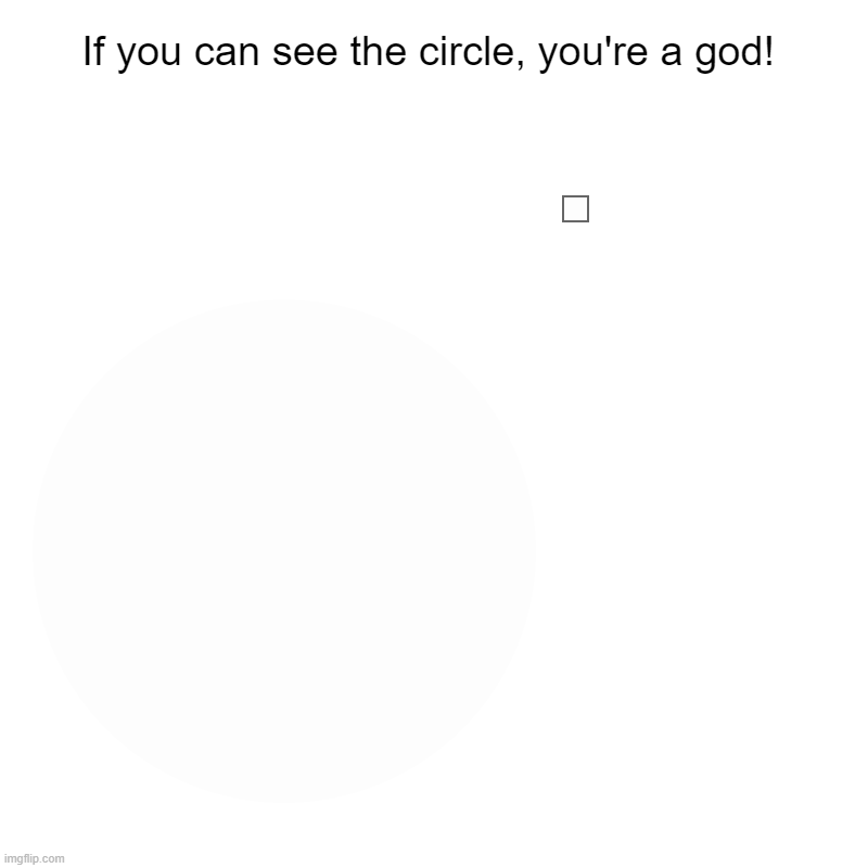 This is POSSIBLE, THERE'S A SLIGHT DIFFERENCE | If you can see the circle, you're a god! | | image tagged in charts,pie charts | made w/ Imgflip chart maker