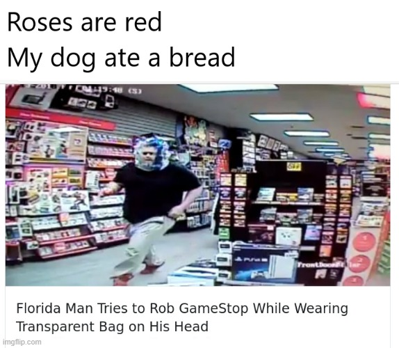 Infeeneet iq | image tagged in florida man,memes,roses are red,funny memes,oh wow are you actually reading these tags | made w/ Imgflip meme maker