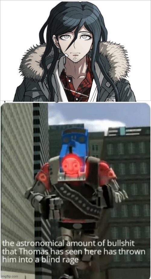 Haiji Towa do be like that though | image tagged in the astronomical amount of bullshit that thomas has seen here,danganronpa | made w/ Imgflip meme maker