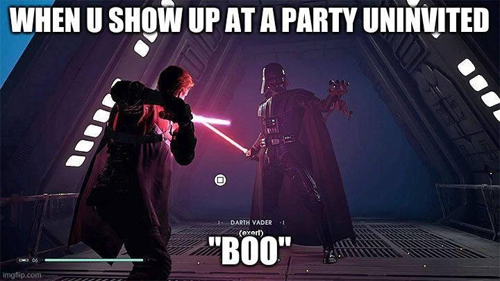 "Boo |  WHEN U SHOW UP AT A PARTY UNINVITED; ""BOO"" 