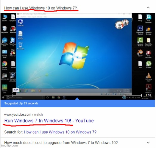 that's totally opposite of what i needed | image tagged in windows 10,windows 7,bing | made w/ Imgflip meme maker
