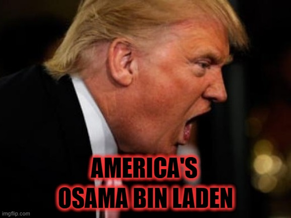 American Terrorism |  AMERICA'S; OSAMA BIN LADEN | image tagged in terrorists,insurrection,trump,gop | made w/ Imgflip meme maker