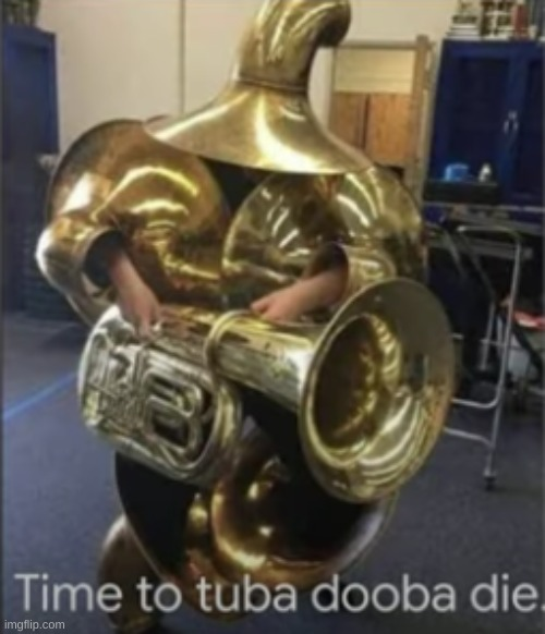 Time To Tuba Dooba Die | image tagged in time to tuba dooba die | made w/ Imgflip meme maker