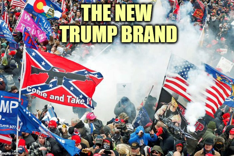 The New Trump Brand - Disgusting |  THE NEW  TRUMP BRAND | image tagged in donald trump you're fired,trump brand,insurrection,capitol hill,riot | made w/ Imgflip meme maker