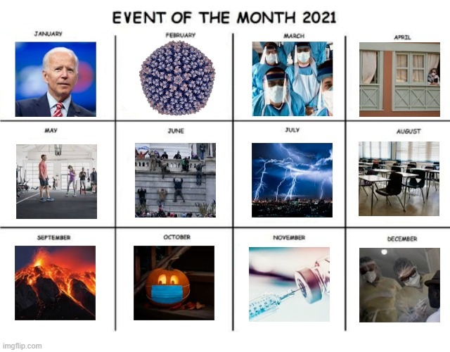 2021 Events | image tagged in calendar,2021,current events | made w/ Imgflip meme maker