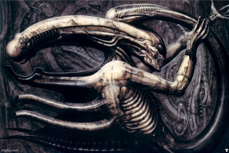H.R. Giger | image tagged in alien,aliens | made w/ Imgflip meme maker