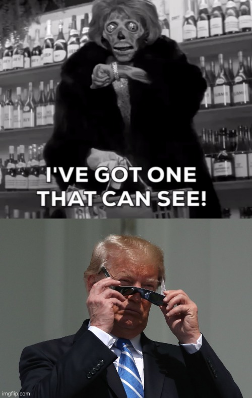 Now you Know why Nancy hates Donald so much...Damn Liquor Stores... | image tagged in president trump,nancy pelosi,they live,liquor store | made w/ Imgflip meme maker