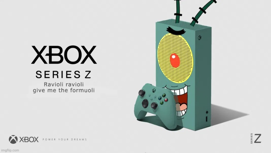 Xbox Plankton! | image tagged in xbox plankton | made w/ Imgflip meme maker