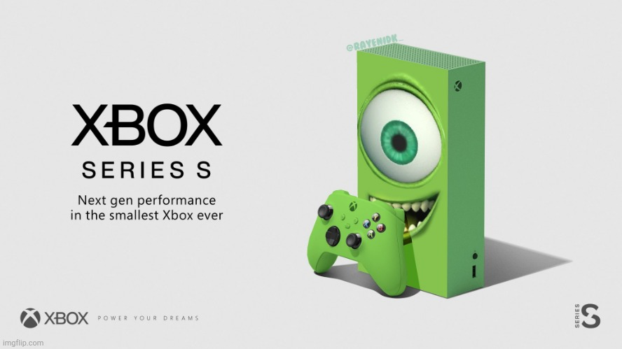 Put that thing back where it came from or so help me! | image tagged in xbox mike wazowski | made w/ Imgflip meme maker