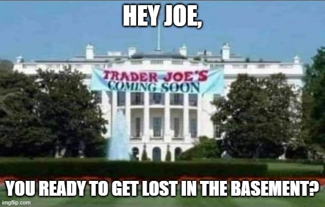 HEY JOE, YOU READY TO GET LOST IN THE BASEMENT? | image tagged in joe biden,basement dweller,ice cream,trader,liar,gps | made w/ Imgflip meme maker