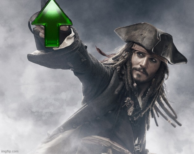 JACK SPARROW UPVOTE | image tagged in jack sparrow upvote | made w/ Imgflip meme maker