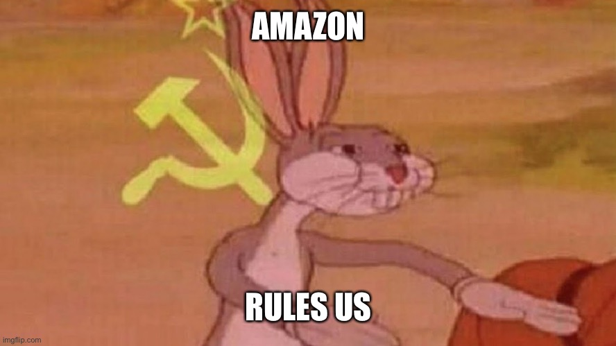 Our meme | AMAZON RULES US | image tagged in our meme | made w/ Imgflip meme maker