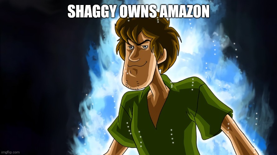 Ultra instinct shaggy | SHAGGY OWNS AMAZON | image tagged in ultra instinct shaggy | made w/ Imgflip meme maker