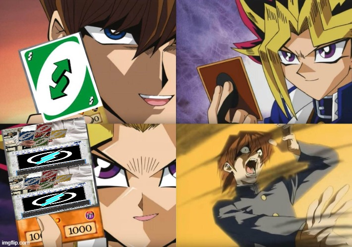 If your friend gives you an Uno reverse, send them this | image tagged in yu-gi-oh no-u,no u,gottem,uno reverse card | made w/ Imgflip meme maker