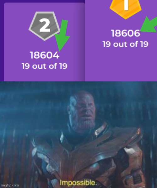 bruhh howw | image tagged in thanos impossible,kahoot,memes,funny,impossible | made w/ Imgflip meme maker