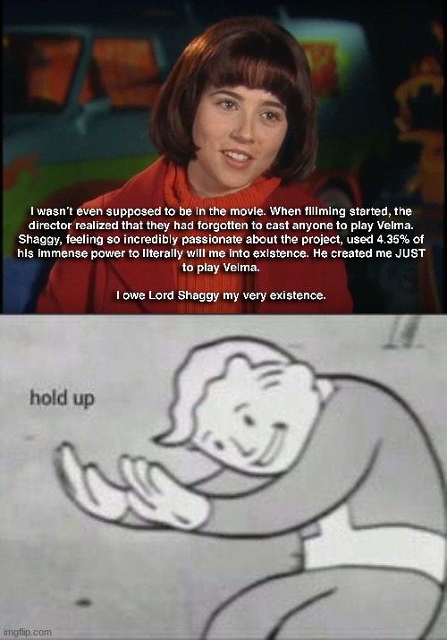 Lord Shaggy? | image tagged in fallout hold up,shaggy meme,what | made w/ Imgflip meme maker