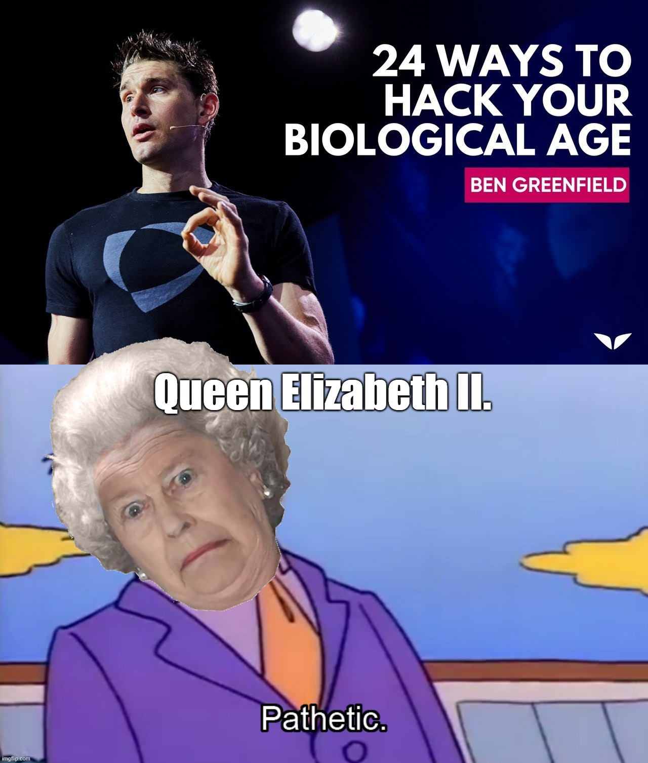 Queen Elizabeth II. | image tagged in pathetic principal,queen elizabeth,queen of england,the queen elizabeth ii,uk,united kingdom | made w/ Imgflip meme maker