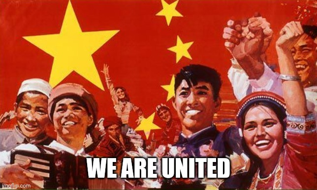 Shiny Happy People |  WE ARE UNITED | image tagged in unity,democrats | made w/ Imgflip meme maker