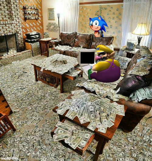 Wario gets caught watching ****hub by Sonic and perishes.mp3 | image tagged in money house,memes,wario dies | made w/ Imgflip meme maker