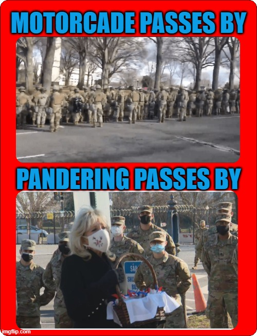 MOTORCADE PASSES BY; PANDERING PASSES BY | made w/ Imgflip meme maker