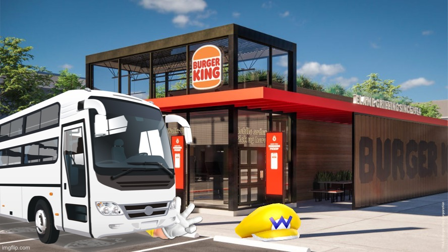 Wario dies from a bus while looking at the new Burger King.mp3 | image tagged in wario dies,wario,bus,burger king,memes | made w/ Imgflip meme maker
