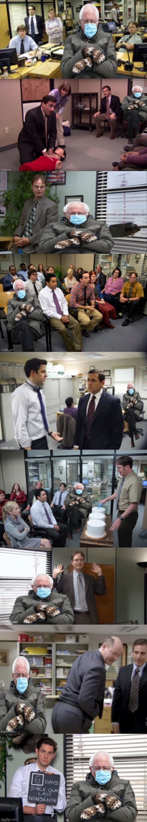 Where's Waldo The Office Edition | image tagged in bernie mittens,the office,bernie sanders,where's waldo,michael scott,viral meme | made w/ Imgflip meme maker