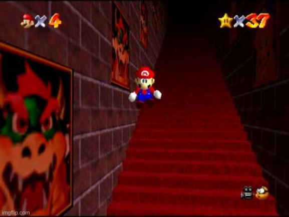 mairo blj and almost fricking died | image tagged in endless stairs,mario lives | made w/ Imgflip meme maker
