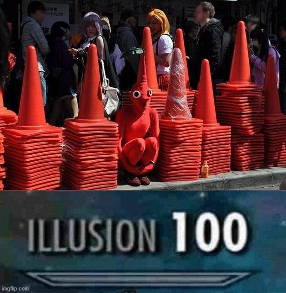 If you look really hard you might spot it. | image tagged in illusion 100,imposter,i will find you | made w/ Imgflip meme maker