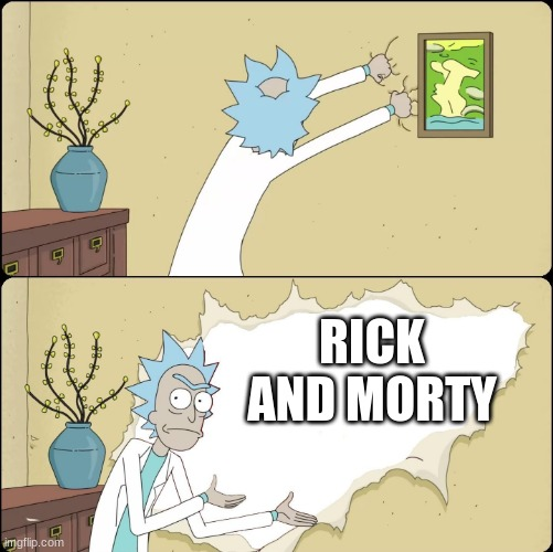 Rick Rips Wallpaper | RICK AND MORTY | image tagged in rick rips wallpaper | made w/ Imgflip meme maker
