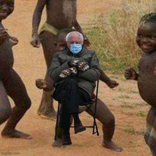 Third world success Bernie | image tagged in memes,third world success kid,bernie | made w/ Imgflip meme maker