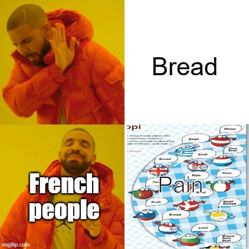 How are you guys doing today? |  Bread; Pain; French people | image tagged in memes,drake hotline bling,new meme | made w/ Imgflip meme maker