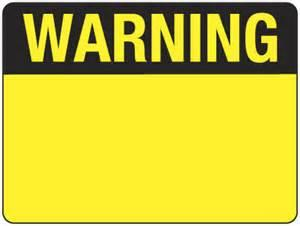 blank warning sign blank template imgflip