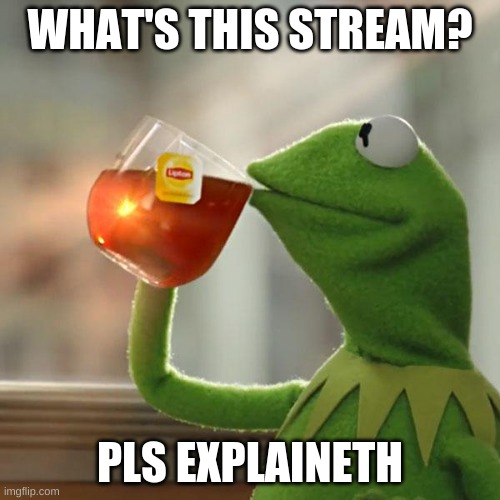 But That's None Of My Business |  WHAT'S THIS STREAM? PLS EXPLAINETH | image tagged in memes,but that's none of my business,kermit the frog | made w/ Imgflip meme maker