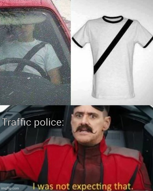 Me too wasn't really expecting that. |  Traffic police: | image tagged in i was not expecting that | made w/ Imgflip meme maker