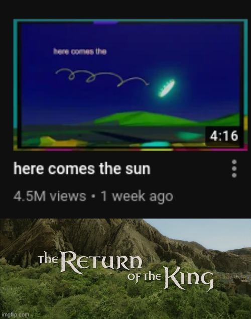 when we needed him most, he returned | image tagged in return of the king,bill wurtz | made w/ Imgflip meme maker