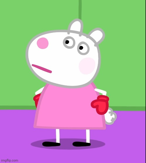 Unamused Suzy Sheep (Peppa Pig) | image tagged in unamused suzy sheep peppa pig,peppa pig,memes | made w/ Imgflip meme maker