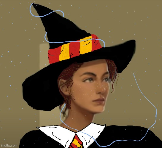 Edit I did of a younger Professor McGonagall (It's a little cringey, but it's my first one) | image tagged in harry potter | made w/ Imgflip meme maker