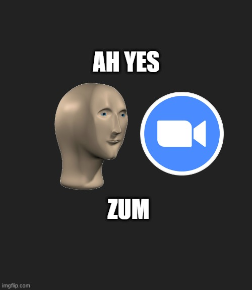 you can use this for your profile pic on zoom if you want idc |  AH YES; ZUM | image tagged in ah yes | made w/ Imgflip meme maker