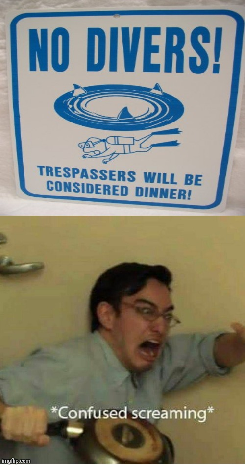 Oh no, not dinner | image tagged in confused screaming,memes,funny,funny signs,filthy frank confused scream,dinner | made w/ Imgflip meme maker