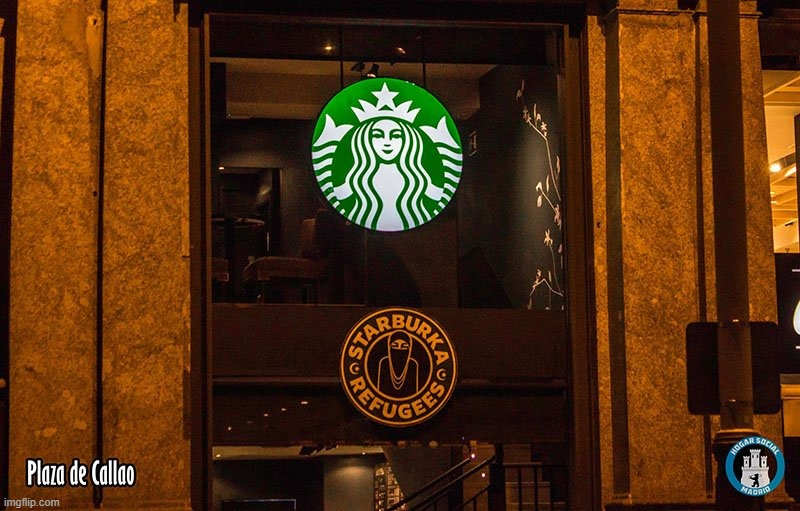 #Starburka | image tagged in starbucks,starburka,spain,real madrid,ha ha tags go brr | made w/ Imgflip meme maker