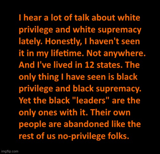 White and Black Privilege | image tagged in racism,black lives matter,all lives matter,socialism,democrats,socialists | made w/ Imgflip meme maker