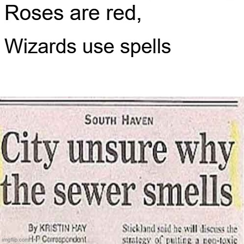 Roses are red, Wizards use spells | image tagged in smells | made w/ Imgflip meme maker