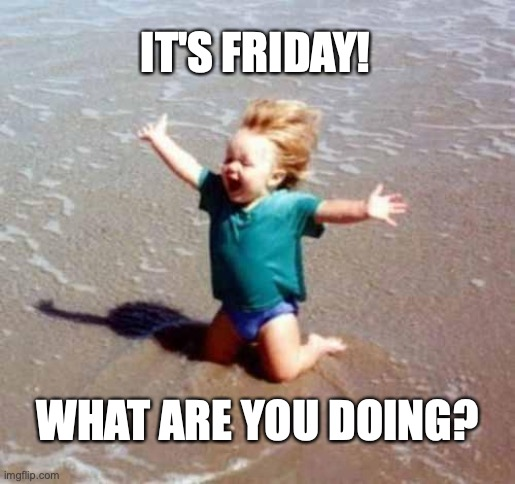 weekend fun |  IT'S FRIDAY! WHAT ARE YOU DOING? | image tagged in celebration,it's friday | made w/ Imgflip meme maker