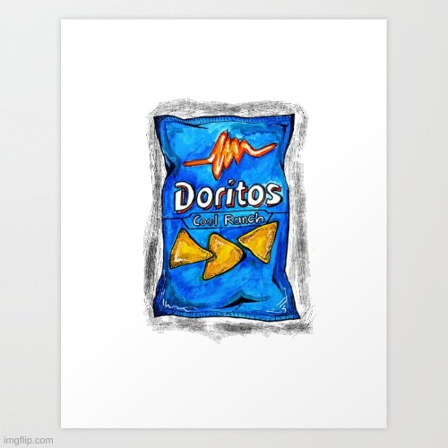 dorito bag got help from Purple_Official :) | image tagged in drawing,doritos | made w/ Imgflip meme maker