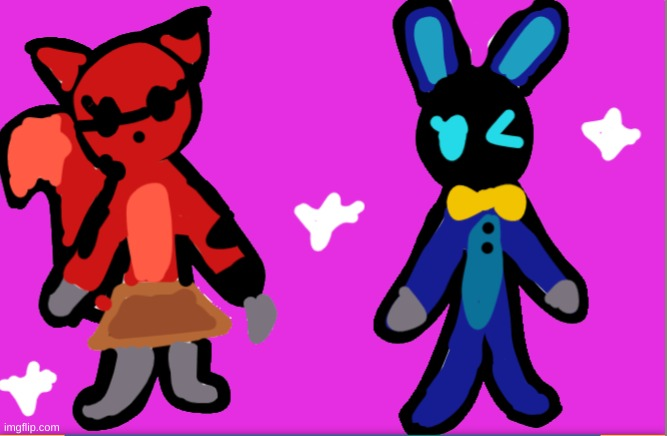 Withered Roxie and Withered Loppy! (Five Nights at Fredda's) | image tagged in fnaf,fnaf2 | made w/ Imgflip meme maker