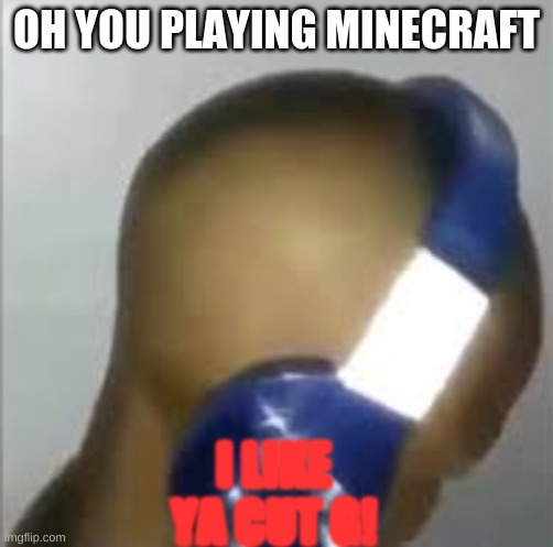 COOL-DUDE MOMENTS: I Like Ya Cut G |  OH YOU PLAYING MINECRAFT; I LIKE YA CUT G! | image tagged in i like ya cut g | made w/ Imgflip meme maker