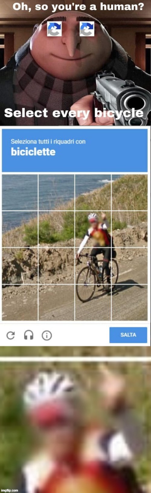CAPTCHA checkpoint road rage | image tagged in captcha checkpoint,road rage,bicycle,wut,wot,what | made w/ Imgflip meme maker