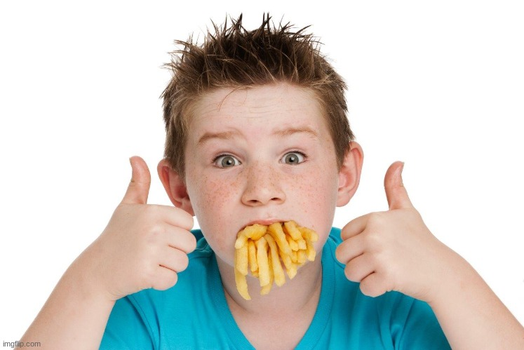 Mouth full of fries | image tagged in mouth full of fries | made w/ Imgflip meme maker