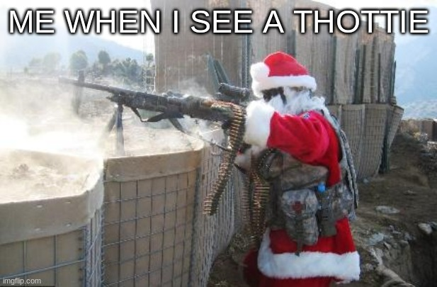 Hohoho |  ME WHEN I SEE A THOTTIE | image tagged in hohoho | made w/ Imgflip meme maker