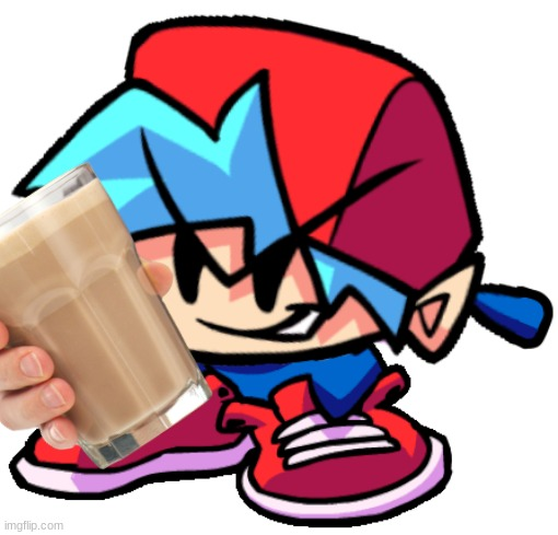 keth offers choccy milk | image tagged in friday night funkin,cursed image | made w/ Imgflip meme maker